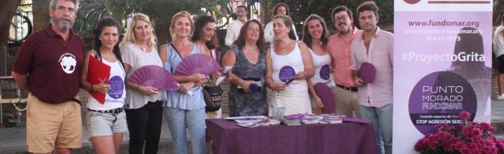 FUNDOMAR pone un Punto Morado contra la violencia de género en la Velá de Santa Ana